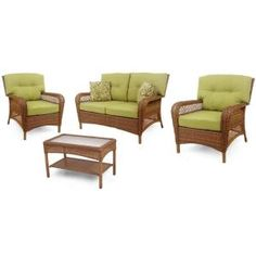 Martha Stewart Living Charlottetown Brown All Weather Wicker Patio Swivel  Rocker Lounge Chair With Green Bean Cushion | Products | Pinterest | Green  Beans, ...