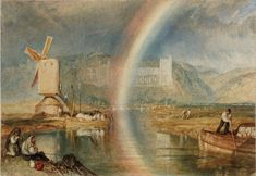 Joseph Mallord William Turner 'Arundel Castle on the River Arun, with a Rainbow', c.1824-5