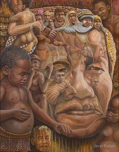 Nelson Mandela ''The shepherd and the shaman''. by Jerel Rowan Baker Optical Illusion Paintings, Optical Illusions Pictures, Illusion Pictures, Art Optical, Image Halloween, Hidden Images, Images Vintage, Image Nature, Illustration Art