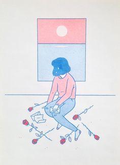 Image of 'Last Letter' Risograph Print