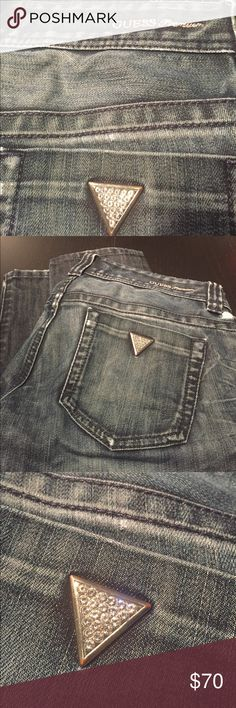 Guess Premium Jeans Guess Premium Jeans. Bedazzled, diamond look. Size 27. Men's slightly distressed. Like new. Guess Jeans