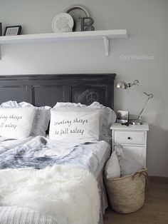 GreyWhiteHeart- guest room inspiration