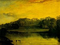 Sommer Hill , painting, aJoseph Mallord William Turner paintings reproduction, we never sell Sommer Hill , poster Joseph Mallord William Turner, Turner Watercolors, Turner Painting, English Romantic, Dawn And Dusk, Examples Of Art, English Artists, Witch Art, Covent Garden