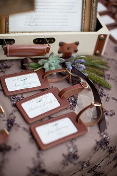 Beach Wedding Idea: Luggage Tag Escort Cards | Book Your Dream Beach Wedding with the Resorts of Pelican Beach in Destin, FL