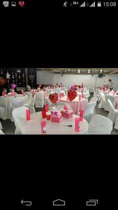 Mesa de Noivado rosa e branco - Gabi Damas