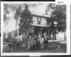 Spencer family in front of house 1908 Black Like Me, Spencer Family, Photo Black, African American Women, Butterfly Wings, House Front, Black People, Photo And Video, Siblings