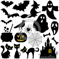 Halloween Silhouettes Elements