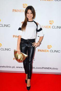 Paulina Koziejowska Paulina Gretzky, Leather Pants Outfit, Hot Outfits, Rock, Shorts, Classy, Lederhosen, Celebrities, Black
