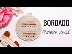 BORDADOS A MANO | 6 PUNTOS BÁSICOS - YouTube