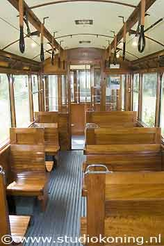 Old tram interior  Amsterdam