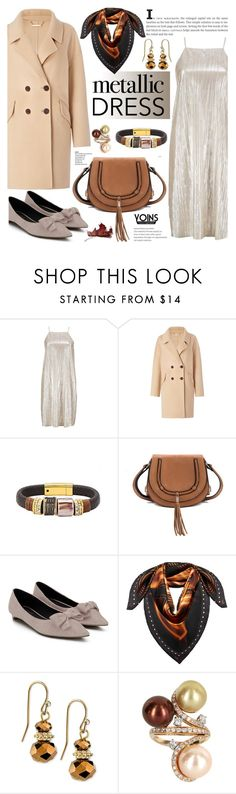 """""""Metallic dress - yoins 3.26"""" by cly88 ❤ liked on Polyvore featuring Boohoo, Diane Von Furstenberg, MCM, 2028 and Vintage"""