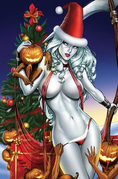 Lady Death-Christmas; by Sanjun, on DeviantArt____!!!!