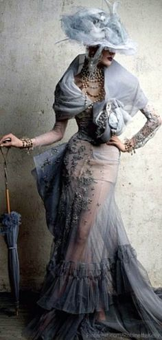 Olga Sherer •Patrick Demarchelier •Christian Dior Couture,Fall 2005•Vogue Russia, 'Inspiration Dior',June 2011.