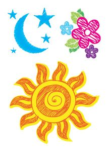 perfect summertime temporary tattoos