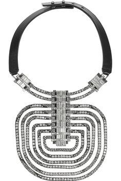 Lanvin Dedale silver-tone Swarovski crystal necklace NET-A-PORTER.COM