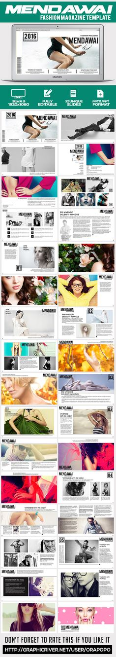 katingan ~ studio lookbook template | creative powerpoint, studio, Powerpoint templates