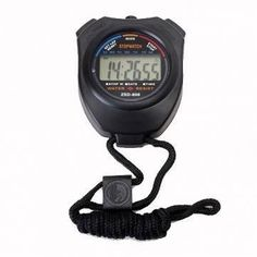 Mewshop Chronograph Digital Timer Stopwatch Counter Wristwatch. Professional Sports Chronograph Digital timer stopwatch show hour, minute, second, AM/PM indicator, month, data, and day of the week You can select 12 or 24 hour user with Chronograph Stopwatches 1/100 second Chronograph up to 23 hours, 59 minutes, 59 seconds. Hourly chime Powered by one AG13 button cell Sizej of the digital stopwatches: ~7.6 x 5.2 x 1.8cm(L*W*D) Weight: 67g. Package Included: 1 x Stopwatch.