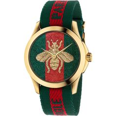 Gucci Women's G Timeless Bee Leather Strap Watch. Challenging the codes of traditional watchmaking, this Gucci watch elevates the design to a fashion forward status. Gucci Watches For Men, Gold Watches Women, Gucci Men, Fashion Watches, Gucci Gucci, Red Watches, Men's Fashion, Leather Watches, Buy Gucci