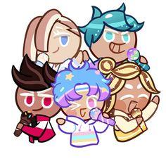 Cookie Crush, Strawberry Cookies, Candy Cookies, Cute Characters, Magical Girl, Easy Drawings, Cute Art, Cookies Et Biscuits, Fan Art