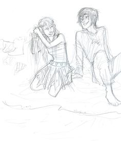 old sketch from last year, they're a lot older than in the movie here. :B Hiccup and Astrid