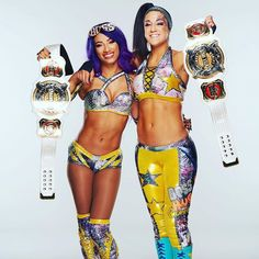 Ladies, the women in WWE turned up the heat at Elimination Chamber when Sasha Banks and Bayley became your NEW and first EVER WWE Women's Tag Team Champions. Congrats to the Boss 'n' Hug Connection, you deserve it Wrestling Superstars, Wrestling Divas, Women's Wrestling, Aj Lee, Wwe Women's Championship, Carmella Wwe, Wwe Outfits, Wwe Sasha Banks, Catch