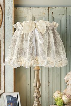 Toile Lampshade Cover - a fabulous way to dress up your favorite lighting fixture | Soft Surroundings