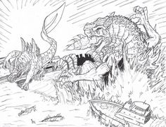 Geckoro vs Godzilla by Deadpoolrus on DeviantArt Free Coloring Sheets, Coloring Pages To Print, Coloring Book Pages, Coloring Pages For Kids, Original Godzilla, Godzilla Vs, Godzilla Destroy All Monsters, Godzilla Resurgence, Dinosaur Coloring Pages