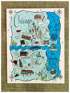 Illustrated New York City Map by Claire Lordon  nyc id love