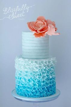 Blissfully Sweet, Teal, Cake, Photography