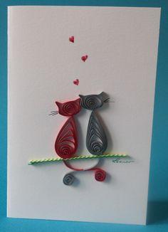 carte de vœux toute occasion , papier roulé ou quilling, fait main 3D : Cartes par leonor-de-papier