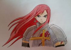 Paper drawing. | Anime/manga: Fairy Tail [Erza Scarlet] Fairy Tail Erza Scarlet, Paper Drawing, Princess Zelda, Disney Princess, Anime Characters, Fictional Characters, Death Note, Tokyo Ghoul, Aurora Sleeping Beauty