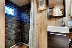 Bathroom Shower & Sink - Basecamp by Backcountry Tiny Homes