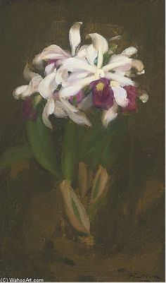 """Oriental Lilies"" by James Stuart Park (1862-1933, United Kingdom)"