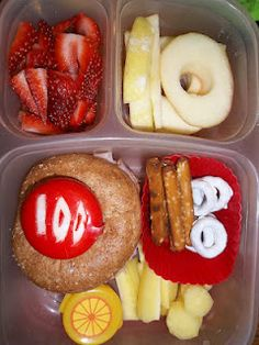 How about a lunch for the 100th day celebration?! Talk about a great idea!!    Just use sticks and circles.  :)