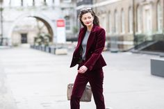 A super-basic T-shirt and a dressed-up suit  #refinery29 http://www.refinery29.com/2015/02/82710/london-fashion-week-2015-street-style#slide-29