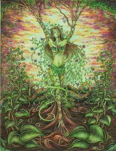 62 Ideas Mother Nature Goddess Art Mythology For 2019 Mother Earth, Mother Nature, Gaia Goddess, Green Goddess, Goddess Tattoo, Psy Art, Beautiful Fantasy Art, Trees Beautiful, Fantasy Kunst