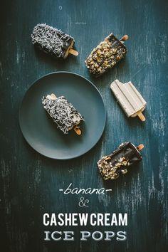 Banana & Cashew Cream Ice Pops | Souvlaki For The Soul