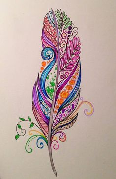 Feather Zentangle                                                                                                                                                      More