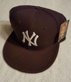 New York Yankees New Era 59 Fifty Brown Fitted Hat size: 7 (SEE ITEM VIDEO) #NewEra #BaseballCap #Yankees #snapback #cap #hat #sportteam #team #newyork #baseball #basketball #football #yankees #yankeeshat