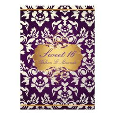 Sweet 16/ princess/pearl damask/plum announcements This site is will advise you where to buyReview          Sweet 16/ princess/pearl damask/plum announcements Here a great deal...