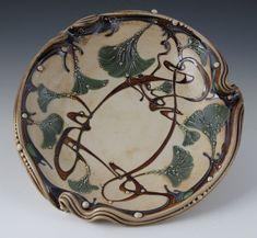 Ginkgo Bowl   Carol Long Pottery