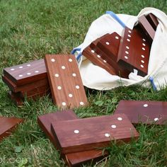 How to make {DIY Backyard Dominoes!}