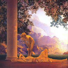 Day Break. Detail. Maxfield Parrish. This painting hang in my living room growing up.