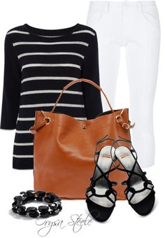 """Spring Stripe"" by orysa on Polyvore"