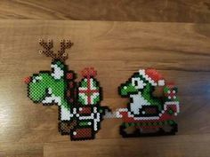 Yoshi Christmas Perler