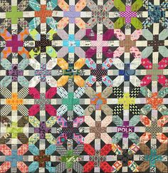 X And Plus Quilt Pattern Designed by Zen Chic image 0 Patchwork Quilt Patterns, Modern Quilt Patterns, Scrappy Quilts, Farm Quilt Patterns, Easy Quilts, Sewing Patterns, 3d Quilts, Shirt Quilts, House Quilts