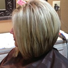 Stacked layer Bob. I can get away with this cut... not a fan of the color