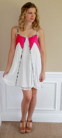 Color block, white dress, cute, fun, glam, trim, lace, party, summer, beach, outfit, ootd, lotd, fashion, style, inspiration, boutique, love
