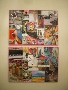 colorful collage on canvas