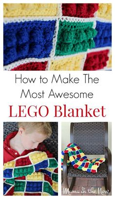 Craft Gifts For Father - Fantastic Present Strategies How To Make The Most Awesome Lego Blanket. This Blanket Is An Instant Hit With Children, Adult Fans Of Lego And Kids With Sensory Processing Issues. Crochet Lego, Crochet Crafts, Crochet Projects, Knit Crochet, Crochet Ideas, Diy Crafts, Crochet Ruffle, Diy Projects, Yarn Crafts